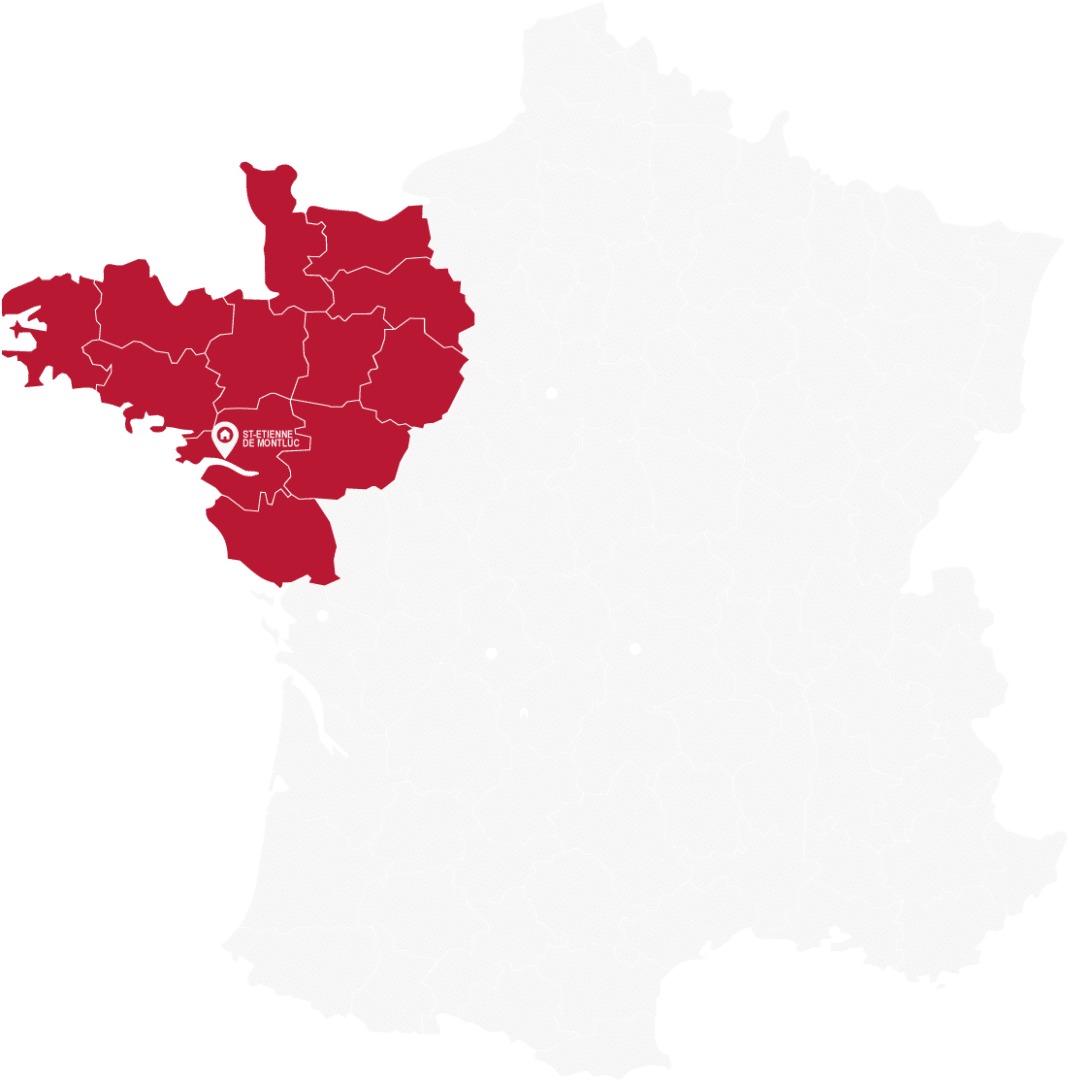 carte-isodeal 85 isolation Nord Ouest